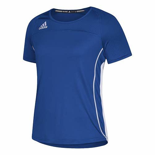 Adidas Womens Utility Short Sleeve Jersey Collegiate Royal/White