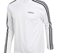 Adidas D2M 3-Stripes Long Sleeve Tee (EI5646) Climalite Gym Training T-Shirt Top