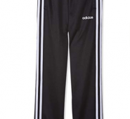 adidas Boy's Youth Boys Essentials 3 Stripes Tapered Pants, Black/White 11-12 Years