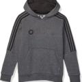 adidas 3-Stripes Hoodie, M/M, Dark Grey Heather/Black