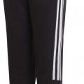 adidas 3-Stripes Jogger Pants, 6, Black/White