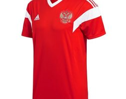 Adidas Russia Official Home Jersey – Red – White